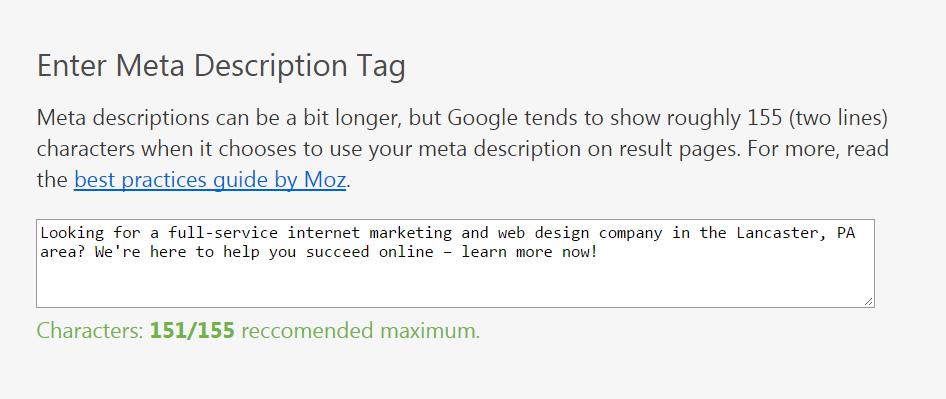 meta description tool