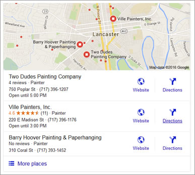 Ranking in Google's Local Listing