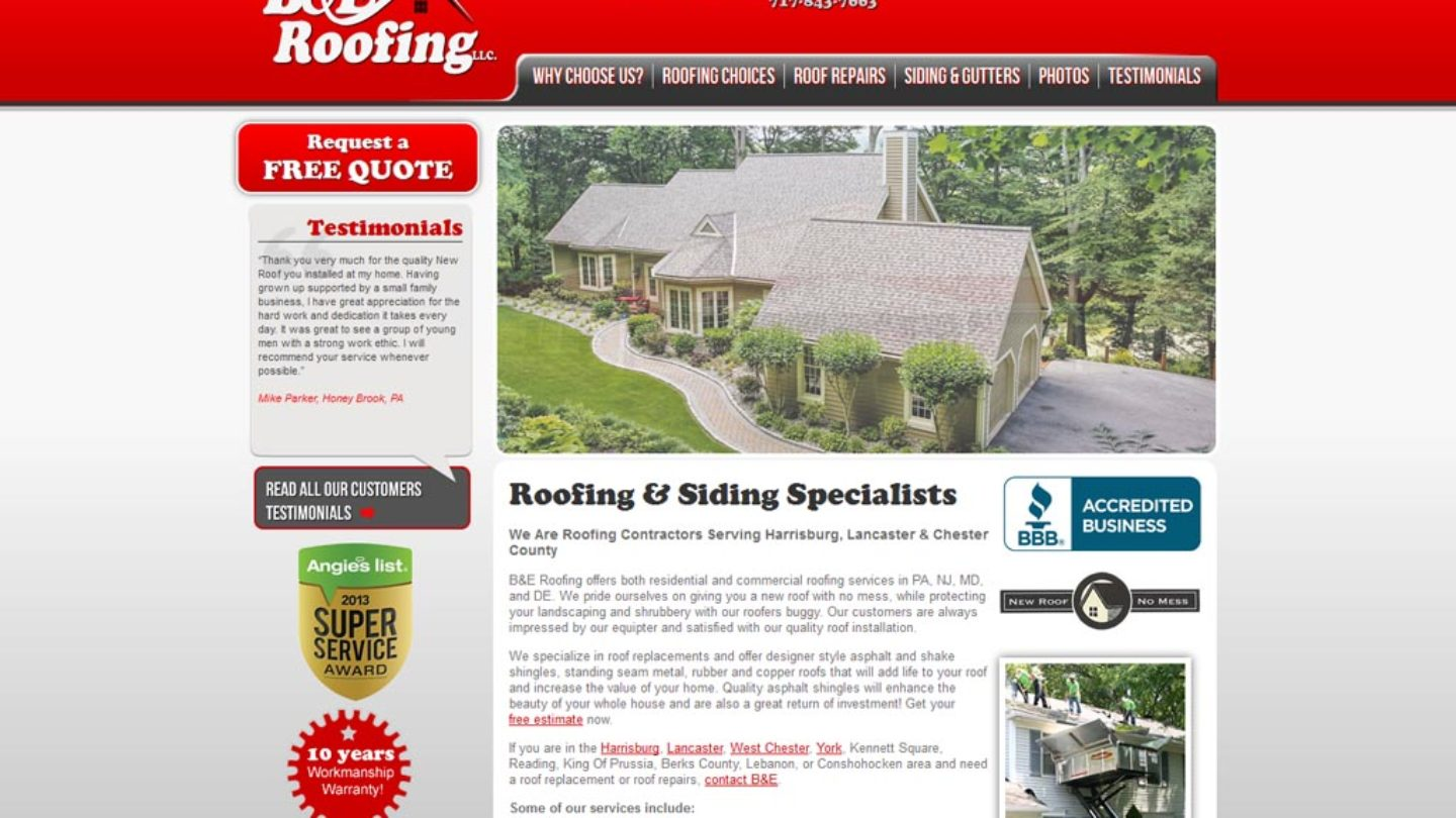 B  E Roofing