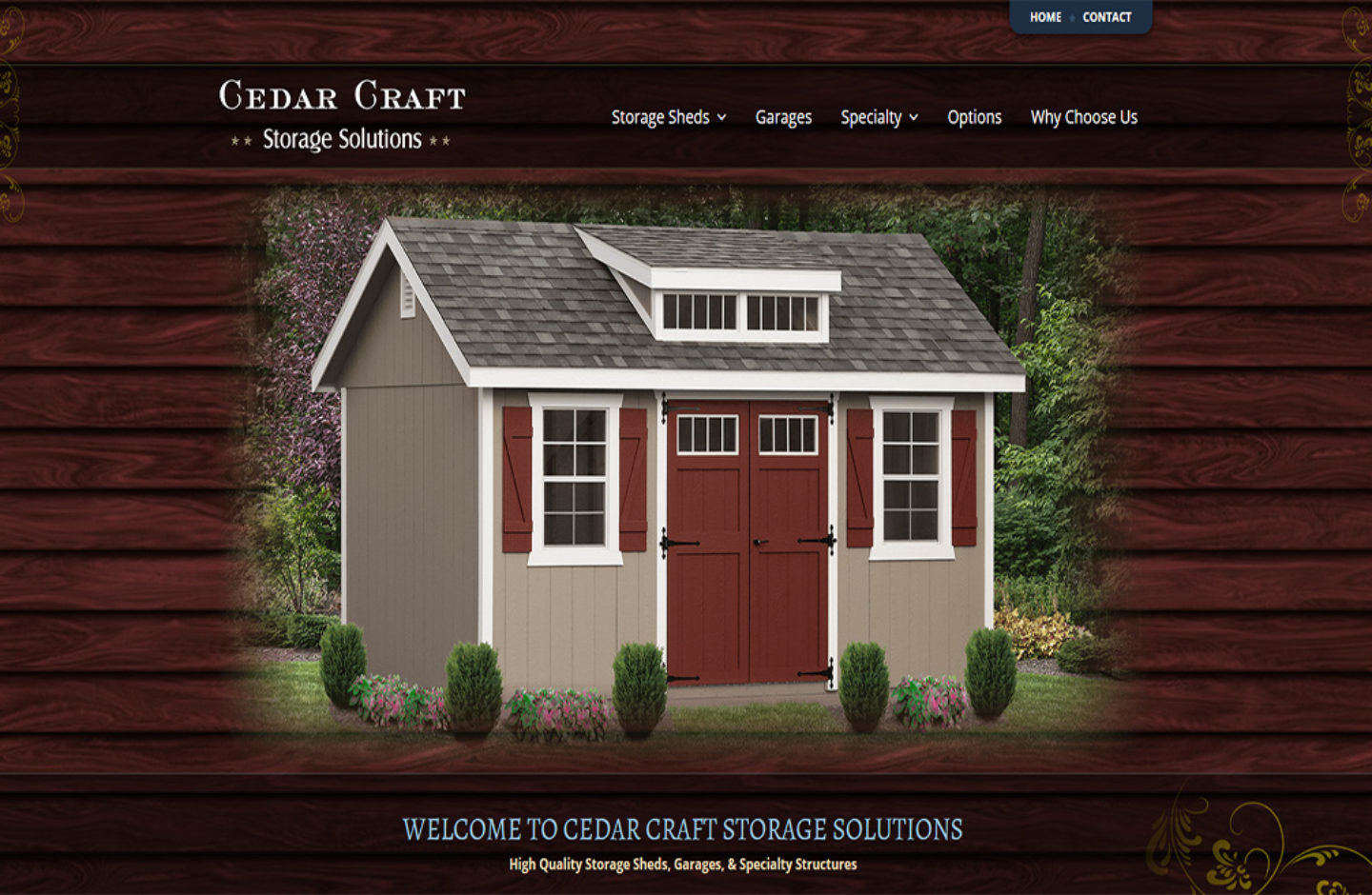 Cedar Craft Storage Sheds