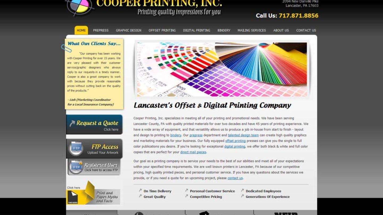 Web Design Lancaster Pa Cooper Printing