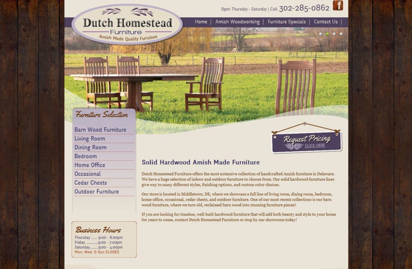 Dutch Homestead Furniture