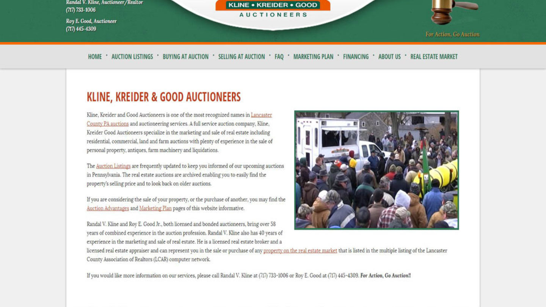 Kline Kreider Good Auctioneers