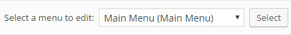 select a menu