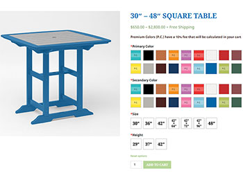 Blue Springs Patio Table Visualizer