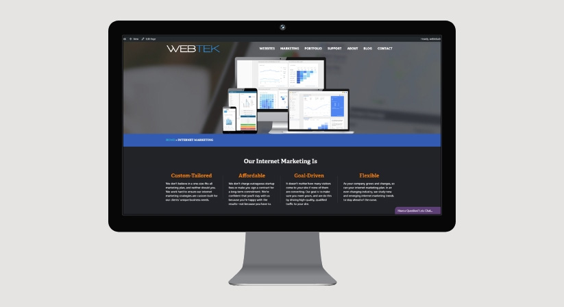 Professional Website for Marketing Startup Company