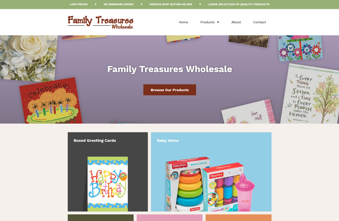 Family Treasures Wholesale