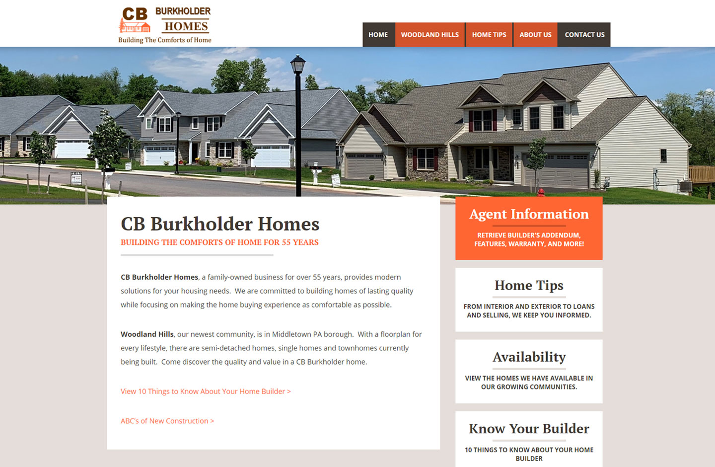 Website for home builders in Lancaster PA