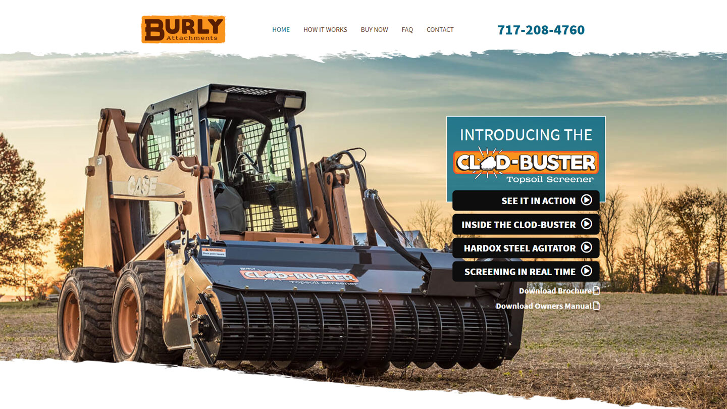 Website for construction company in Lancaster PA