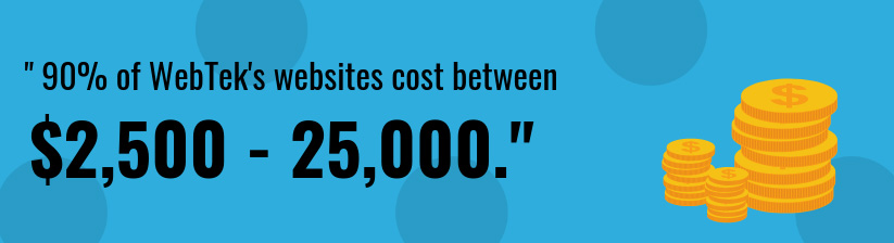 Average cost of website callout graphic