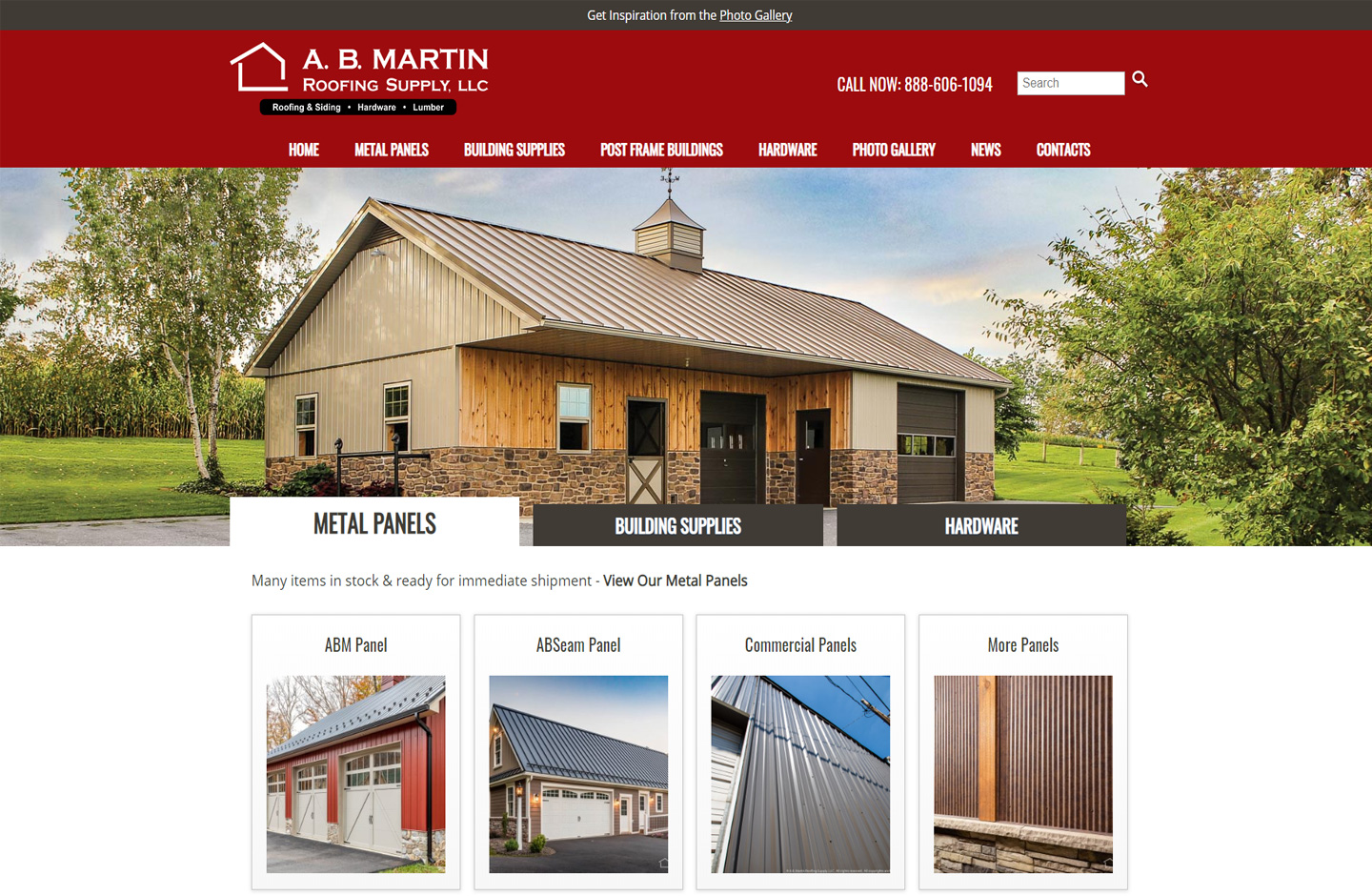 Mobile friendly website for AB Martin