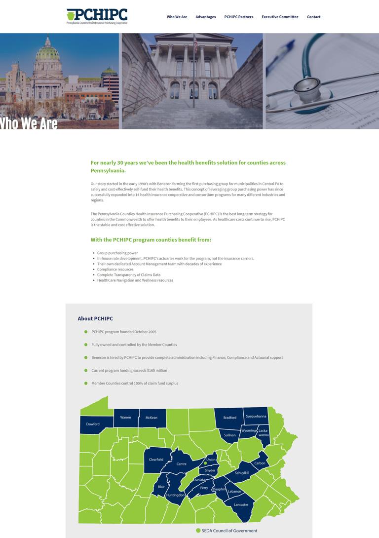 Healthcare web design for Lancaster PA