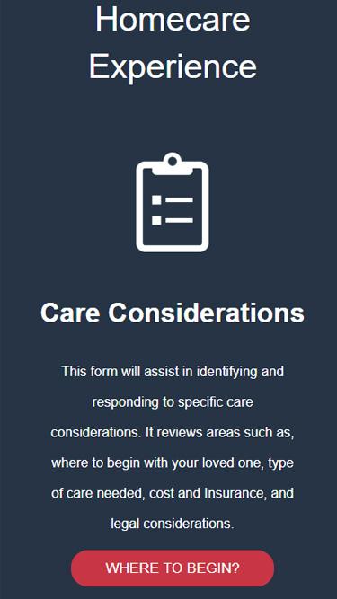 Elderly healthcare website design display