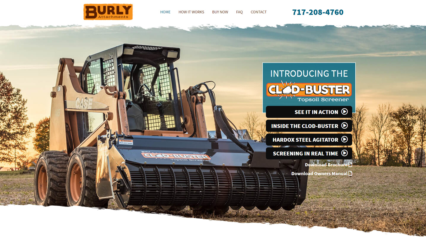 Wordpress website for manufacturing company in Lancaster