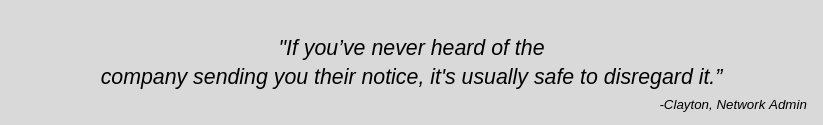 Quote from Network Admin