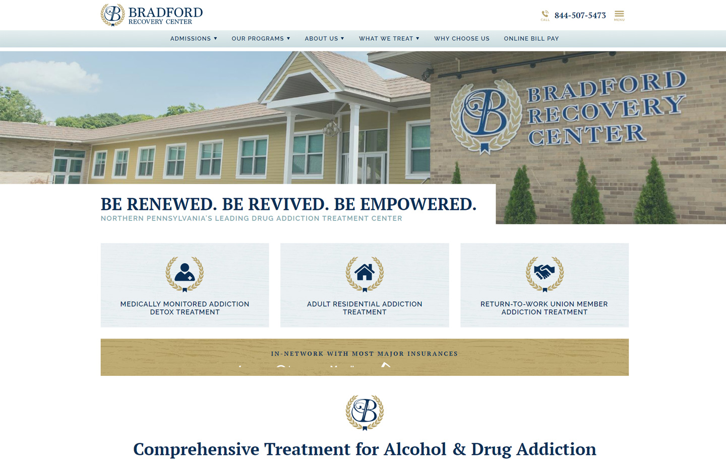 Best website design for rehab facility in Lancaster County PA