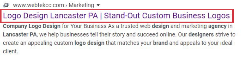 Example of great SEO title