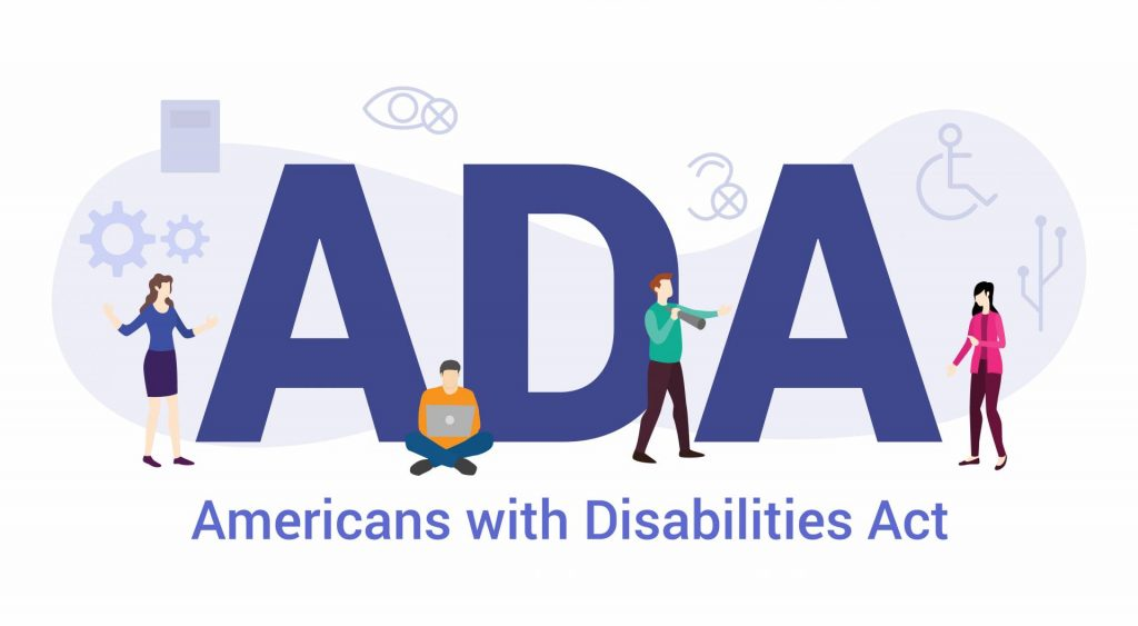 americans with disabilities act website compliance graphic