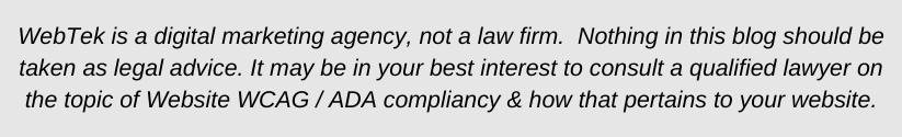 ada compliance legal disclosure